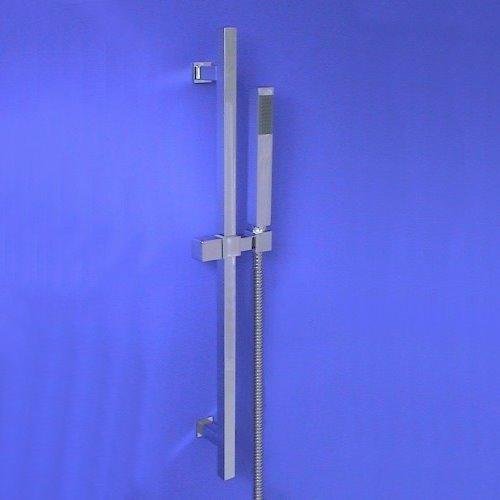 welfenstein brausegarnitur eckig duschstange 68cm messing stabbrause hz11 hh3 ebay. Black Bedroom Furniture Sets. Home Design Ideas