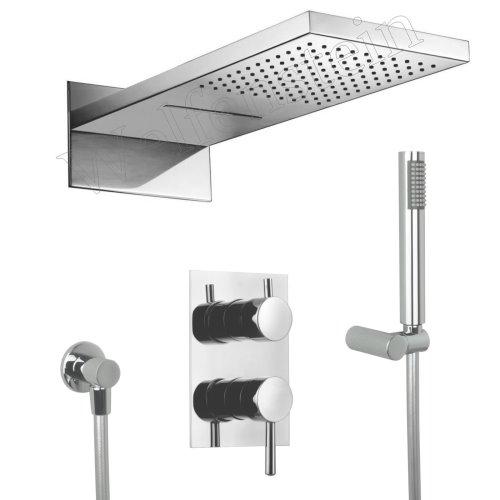 dusche unterputz set unterputz thermostat duscharmatur. Black Bedroom Furniture Sets. Home Design Ideas